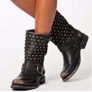 Frye Jenna Cut Studded Moto Boots